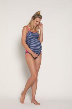 Купальник для беременных Тёмно-Синий в горошек 8019204 GeBe Турция