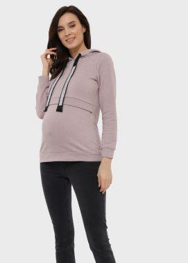 Толстовка для беременных и кормящих с начёсом с капюшоном мальва 104258 Россия