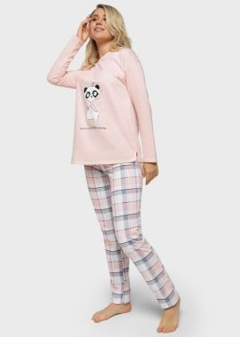 Пижама Под живот хлопок трикотаж пудра 104423 Россия