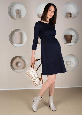 Платье для беременных и кормящих трикотаж с замочком Тёмно-Синий 101319 Россия